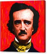 Edgar Allan Poe - Painterly - Square Canvas Print