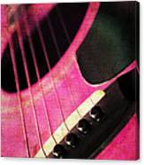 Edgy Pink Guitar  Canvas Print