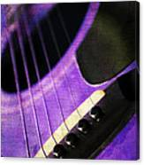 Edgy Purple Guitar  Canvas Print