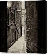 Edinburgh Alley Sepia Canvas Print