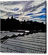 Edinburgh In Silhouette Canvas Print