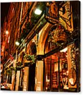 Edinburgh Pub At Night Canvas Print