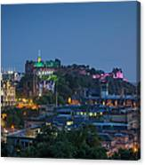 Edinburgh Twilight Canvas Print