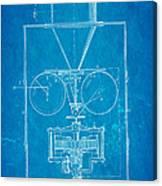 Edison Motion Picture Camera Patent Art 1897 Blueprint Canvas Print