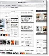 Visitors Hi Edit Keyword Search Untitled Canvas Print