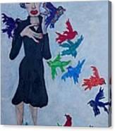 Edith Piaf  The Little Sparrow Canvas Print