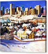 Edmonton In Winter Canvas Print