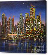 Edmonton Night Lights Canvas Print