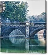 Edo Castle And Nijubashi Bridge Canvas Print