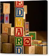 Edward - Alphabet Blocks Canvas Print