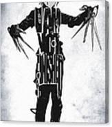 Edward Scissorhands - Johnny Depp Canvas Print