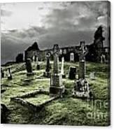 Eerie Cemetery Canvas Print
