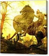 Eerie Horseman Canvas Print