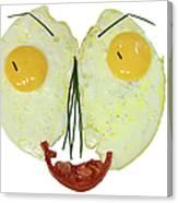 Egg Face Canvas Print