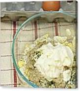Egg Salad Ingredients Canvas Print