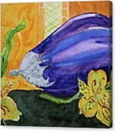 Eggplant And Alstroemeria Canvas Print