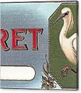 Egret Cigar Label Canvas Print