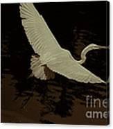 Egret Fractalius Canvas Print