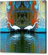 Egrets Nest In A Palace Canvas Print