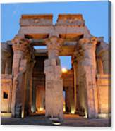 Egypt, Kom Ombo Sunset At The Egyptian Canvas Print