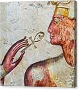 Egyptian Hand With Ankh Canvas Print
