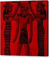 Pharaoh Atem Red Canvas Print