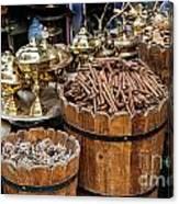 Egyptian Market Stall Canvas Print
