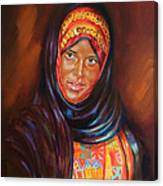 Egyptian Nubian Girl Canvas Print