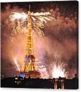 Eiffel Hat Canvas Print