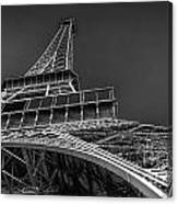 Eiffel In Black And White Canvas Print