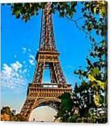 Eiffel In Green Canvas Print