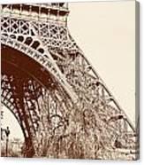 Eiffel In Sepia Canvas Print