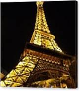 Eiffel Night Canvas Print