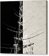 Eiffel Tower Abstract Bw Canvas Print