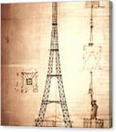 Eiffel Tower Design Canvas Print