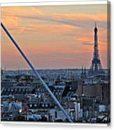 Eiffel Tower From Above Canvas Print