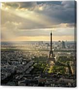 Eiffel Tower From Montparnasse Canvas Print