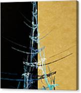 Eiffel Tower In Blue Abstract Canvas Print