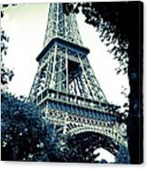Eiffel Tower In Blue Canvas Print