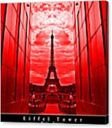 Eiffel Tower In Red Canvas Print