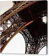 Eiffel Tower Left Leg Canvas Print