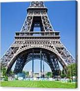 Eiffel Tower Lower Part Paris Canvas Print