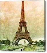 Eiffel Tower Mood Canvas Print