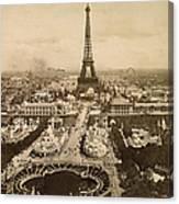 Eiffel Tower, Paris, 1900 Canvas Print