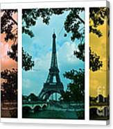 Eiffel Tower Paris France Trio Canvas Print