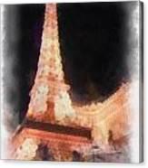 Eiffel Tower Paris Las Vegas Photo Art Canvas Print