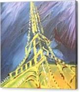 Eiffel Tower Paris Night Canvas Print