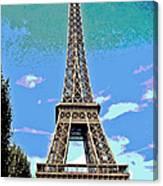 Eiffel Tower Posterized Canvas Print