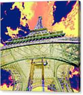 Eiffel Tower Psycho Version Canvas Print