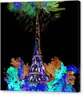 Eiffel Tower Topiary Canvas Print